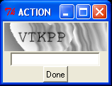 TK widget for EarthLink CAPTCHAs
