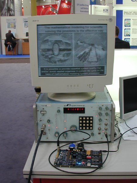 COVISP demonstration setup at CeBIT 2006