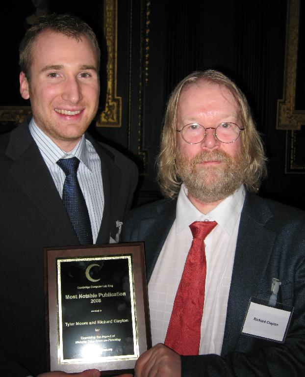 Tyler Moore and Richard Clayton, most notable publication 2008