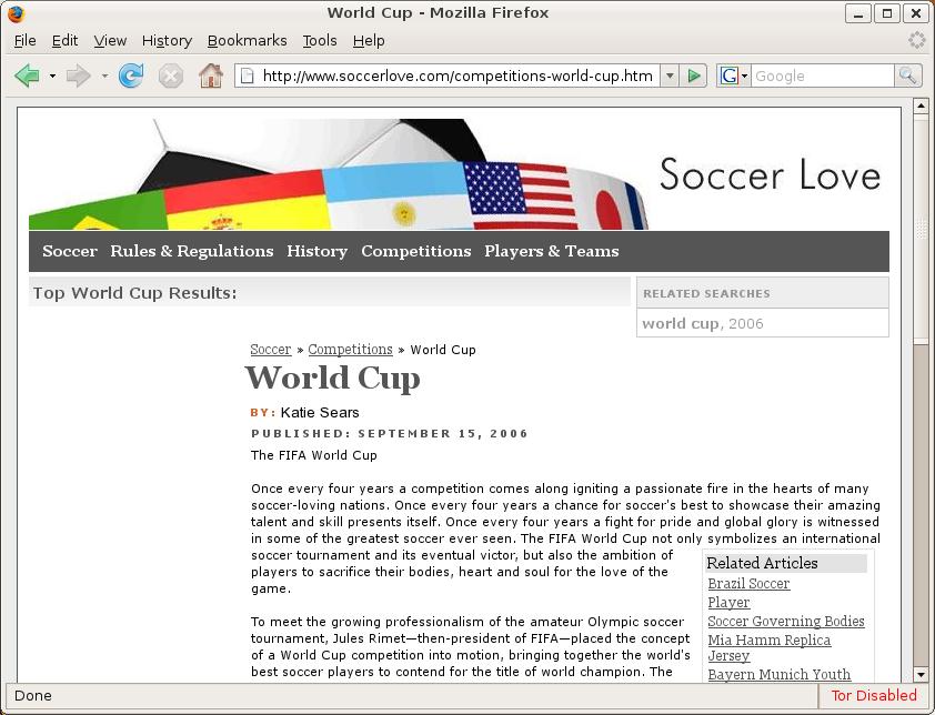 Soccerlove (Google)