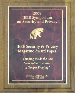 IEEE Security & Privacy Magazine Award