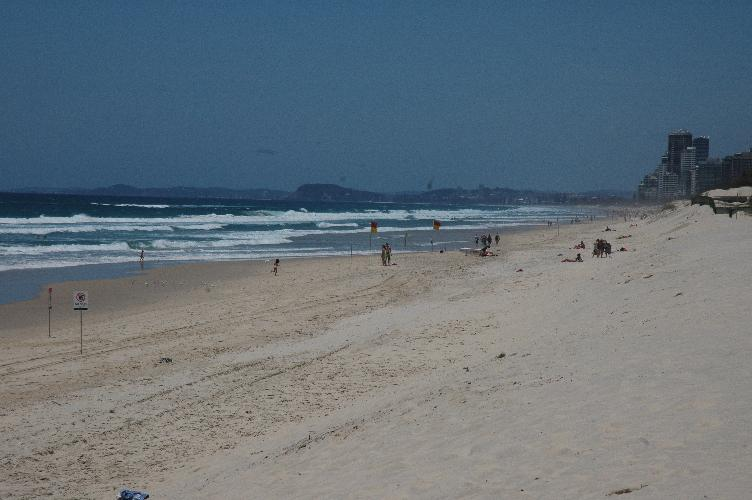 View of beach at Surfer's Paradise