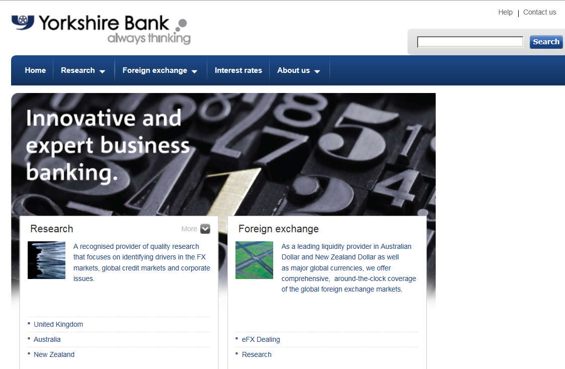 Older version of ybs-bank.com website