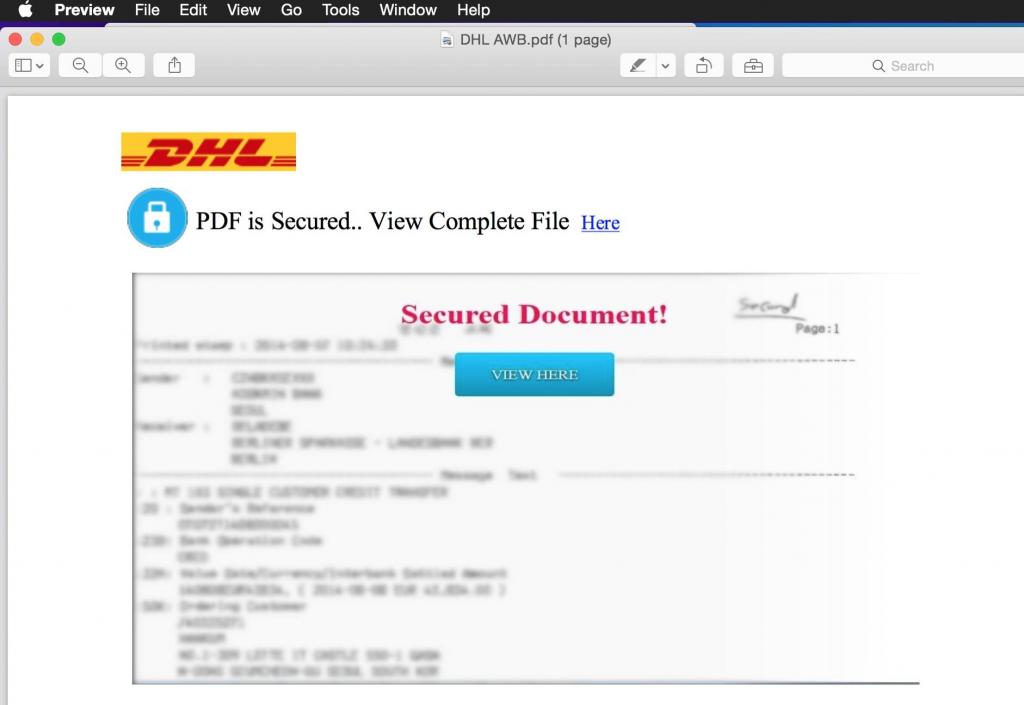 DHL PDF contents